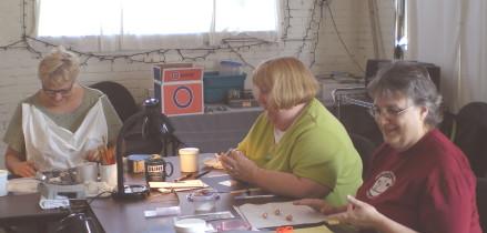 Sarah Sturgis, Gail and CindyJenkins