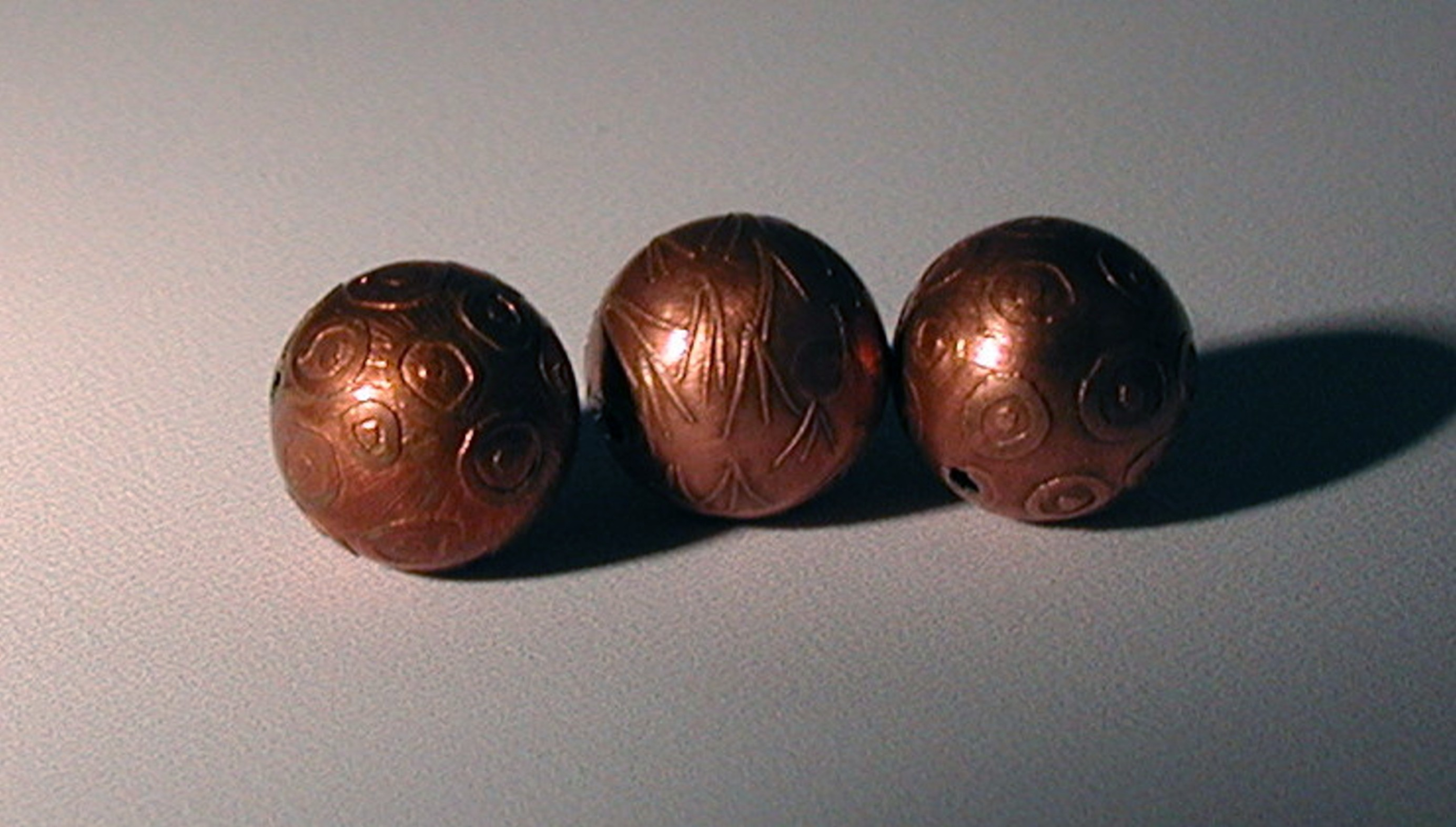 Etched Copper Beads