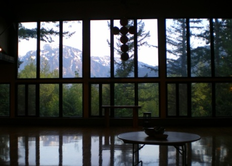 View from the dining hall at Clay Camp