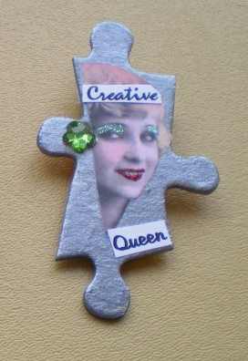 Creative Queen Puzzle Pin