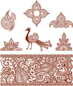 Mehndi designs have the same stylization as my wood stamps.