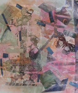 Papercloth collage by Meredith Arnold