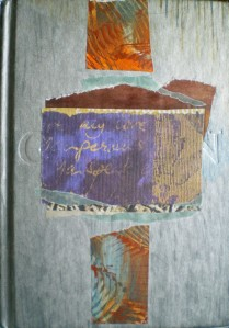 This is the book cover of an altered book on the challenges in design.