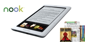 The new Nook ebook reader from Barnes and Noble available soon.
