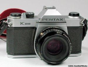 Older Pentax 35 mm camera.