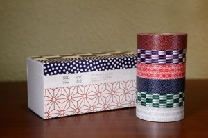 Washi paper masking tape (6 rolls) in a special box! How could I resist?