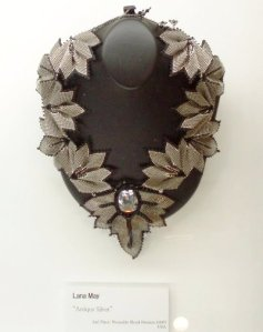 Lana's neck piece on display in Japan.
