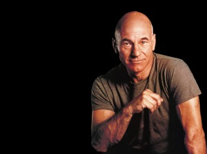 Doesn't Patrick Stewart exude confidence and security?  The PERFECT Star Fleet Captain!