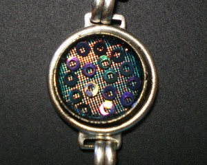 Resin bracelet detail.